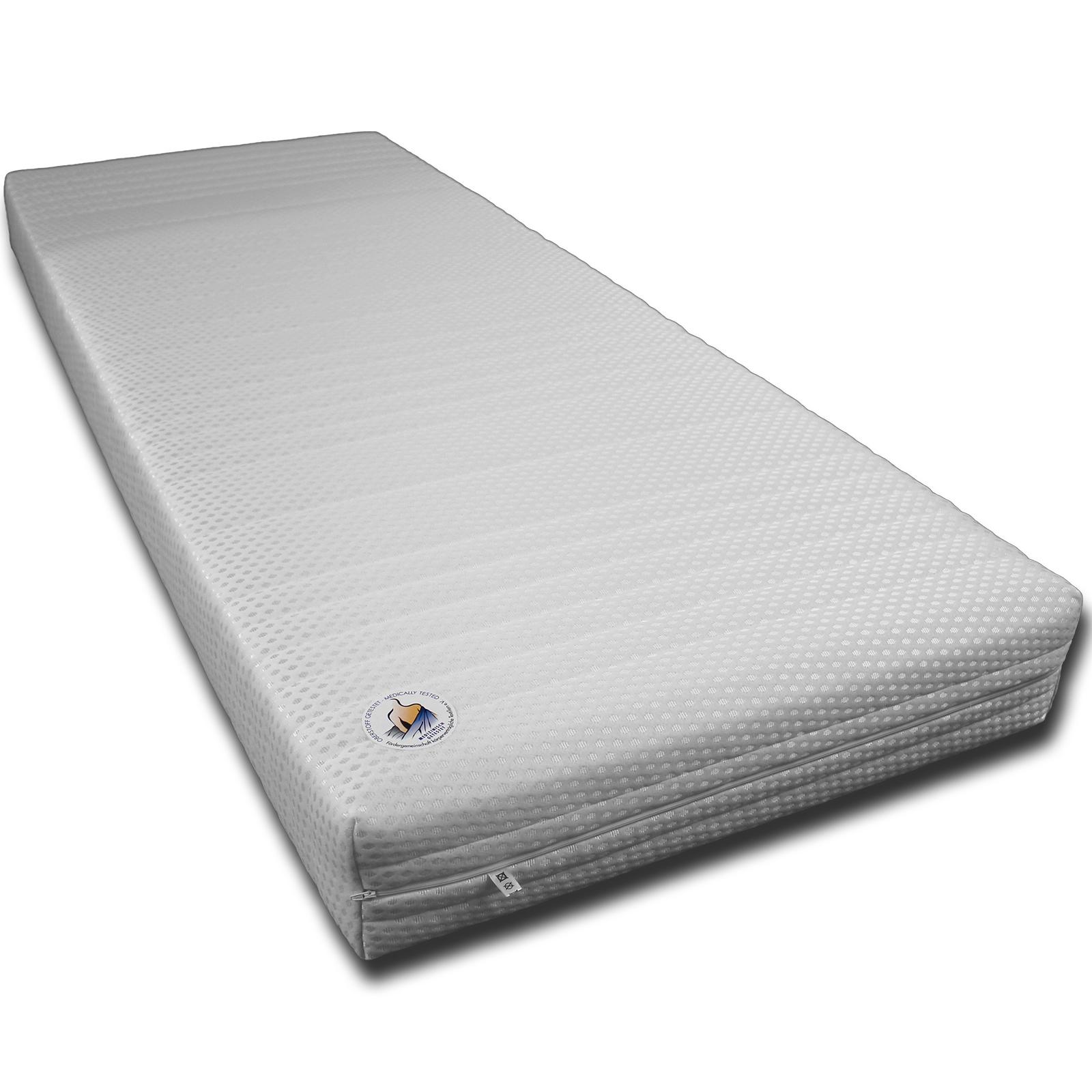 matratze h he 20cm rg30 7 zonen matratze rollmatratze mit versteppten bezug ebay. Black Bedroom Furniture Sets. Home Design Ideas